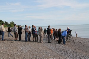 crowd_viewing_venus_transit_point_pelee_peter_mcmahon